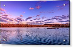 Acrylic Print featuring the photograph April Evening At The Lake by Allin Sorenson