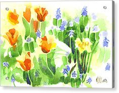 Acrylic Print featuring the painting April Flowers 2 by Kip DeVore
