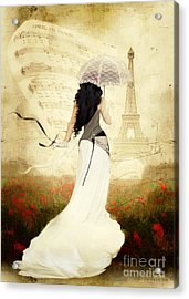 April In Paris Acrylic Print by Shanina Conway