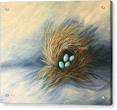April Nest Acrylic Print by Torrie Smiley