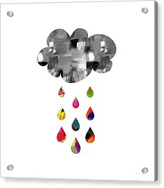 April Showers- Art By Linda Woods Acrylic Print by Linda Woods