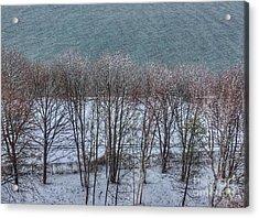 April Snow On Portland Trails Acrylic Print