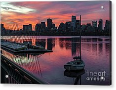 April Sunrise Acrylic Print by Mike Ste Marie