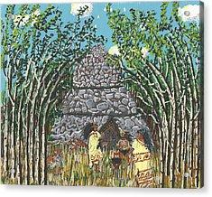 April  The Shaman Calls The Jaguars Acrylic Print