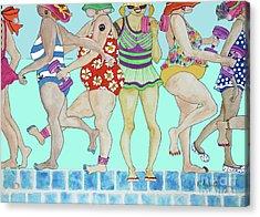 Aqua Babes Acrylic Print