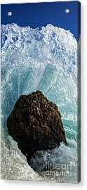 Aqua Dome - Triptych  Part 2 Of 3 Acrylic Print