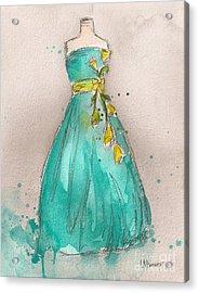 Aqua Dress Acrylic Print by Lauren Maurer