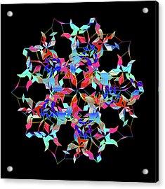 Aqua Extreme Mandala Acrylic Print