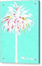 Aqua Marine Palm Acrylic Print