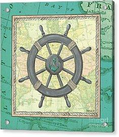 Aqua Maritime Acrylic Print by Debbie DeWitt