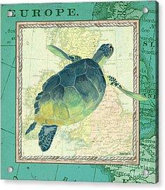 Aqua Maritime Sea Turtle Acrylic Print