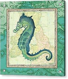 Aqua Maritime Seahorse Acrylic Print
