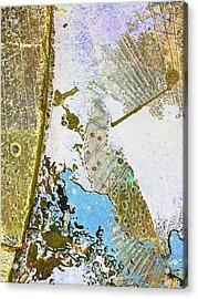 Aqua Metallic Series Free Acrylic Print by Tony Rubino