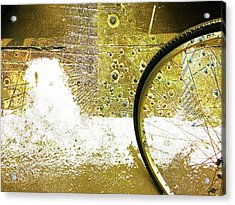 Aqua Metallic Series Bent Acrylic Print