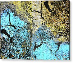 Aqua Metallic Series Blue Acrylic Print by Tony Rubino