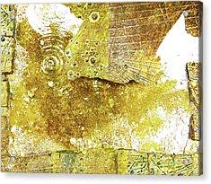 Aqua Metallic Series Border Acrylic Print