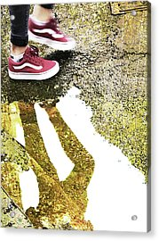 Aqua Metallic Series Dance Acrylic Print by Tony Rubino
