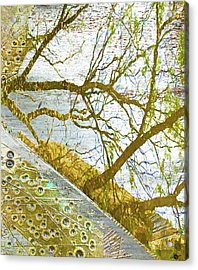 Aqua Metallic Series Lightning Acrylic Print by Tony Rubino