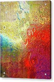 Aqua Metallic Series Rainbow Acrylic Print