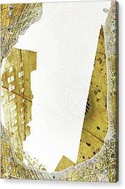 Aqua Metallic Series Together Apart Acrylic Print
