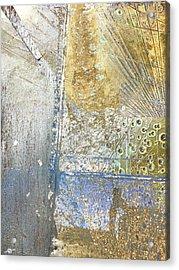 Aqua Metallic Wet Acrylic Print by Tony Rubino