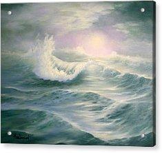 Aqua Sea Acrylic Print