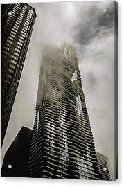 Aqua Skyscraper Acrylic Print