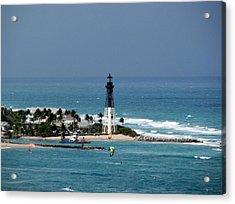 Aqua Water At The Lighthouse Acrylic Print