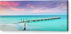 Aqua Waters  Acrylic Print by Az Jackson