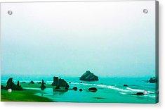 Aqua Waters Acrylic Print
