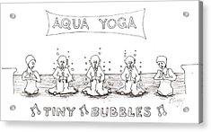 Aqua Yoga Acrylic Print