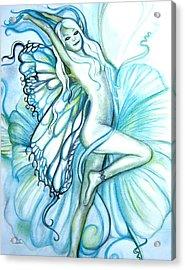 Aquafairie Acrylic Print by L Lauter