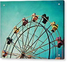 Aquamarine Dream - Ferris Wheel Art Acrylic Print