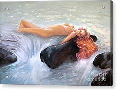 Aquamarine Sea Goddess Acrylic Print