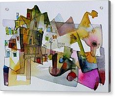 Aquarel No32 Acrylic Print by Miljenko Bengez
