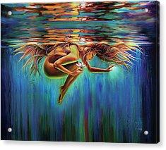 Aquarian Rebirth II Divine Feminine Consciousness Awakening Acrylic Print