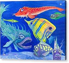 Aquarium 1 Acrylic Print by Adria Trail