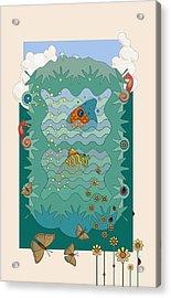Aquarium Acrylic Print by Edward Kinney