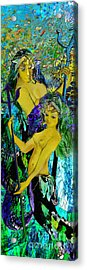 Aquarius And Undine Acrylic Print by Anne Weirich
