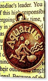 Aquarius Zodiac Sign Acrylic Print by Jorgo Photography - Wall Art Gallery