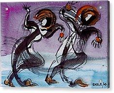 Aquatic Dancers Acrylic Print by Dan Earle