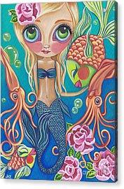 Aquatic Mermaid Acrylic Print by Jaz Higgins