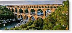 Aqueduct Pont Du Gard Acrylic Print