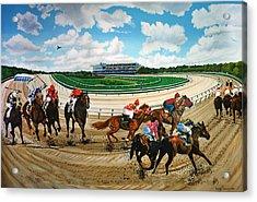 Aqueduct Racetrack Acrylic Print