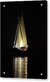 Arab Dhow At Night Acrylic Print by Paul Cowan