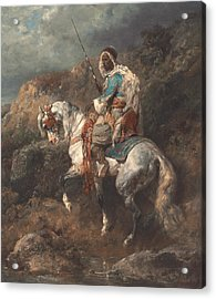 Arab Horseman Acrylic Print by Adolf Schreyer