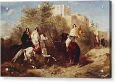 Arab Horsemen Acrylic Print by Eugene Fromentin