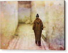 Arab Man Walking - Morocco 2 Acrylic Print