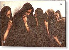 Arab Women Acrylic Print by James LeGros