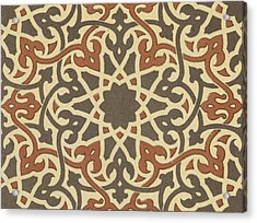 Arabian-moresque, Mosaic Textile Pattern Acrylic Print